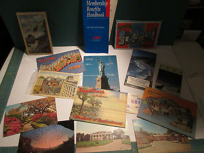 Vtg: Lot 28~Paper Ephemera-Postcards-Omaha-Aarp-Calendar-Neb.-Minn-Sd-Wv-Nm-40's