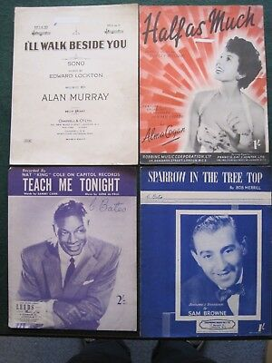 SHEET MUSIC, FORTYEIGHT PIECES FROM THE 1940s/1950s/1960s.  CHOOSE ANY 6 FROM 48