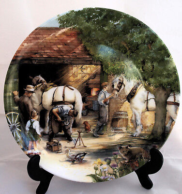 Royal Doulton Old Country Crafts China Plate 1990 - The Blacksmith