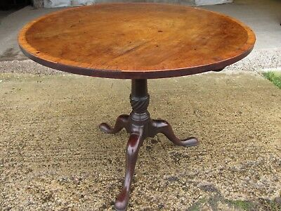 Georgian mahogany and cross banded tilt top breakfast table