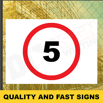 5 MPH Speed Limit Prints Full Colour Sign Printed Heavy Duty 3906