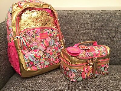 SMIGGLE Gold Limited 15th Birthday Collection Girls Backpack & Lunch Box Bag