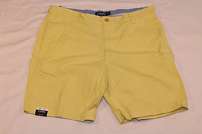 CHAPS flat front washed twill Chino Shorts (36) *NWT* may yellow