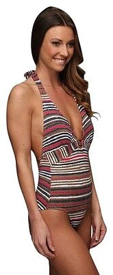 "Tommy Bahama ""Sea Schooner"" one-piece Halter Swimsuit (14) *NWT*"
