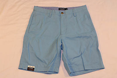 CHAPS flat front washed twill Chino Shorts (30) *NWT* sutton blue