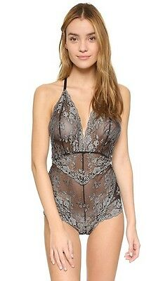 Free People 'Too Cute to Handle' T-Back lace Bodysuit (L) *NEW*