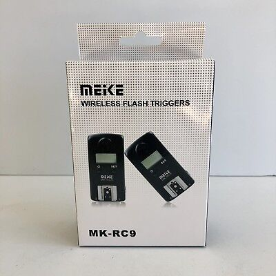 Meike Mk-rc9 2.4g Wireless LCD Flash Trigger Receiver Transmitter Kit For Cannon