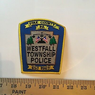 Old Westfall Township Pa Pennsylvania Police Patch