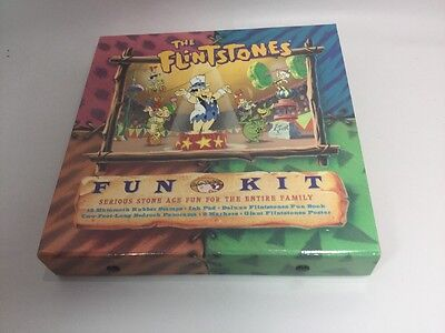 Flintstones 1994 Fun Kit w/12 Rubber Stamps, Ink Pad, Fun Book, poster, and Mark