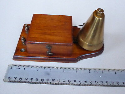 Vintage battery door bell with conical brass dome