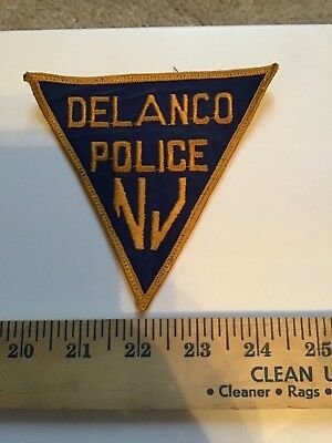 Old Delanco Nj New Jersey  Police Triangle Patch