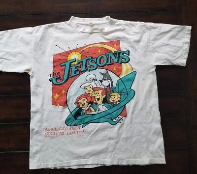 Vtg 90s 1990 The Jetsons Shirt XL Cartoon Hanna Barbera Flintstones