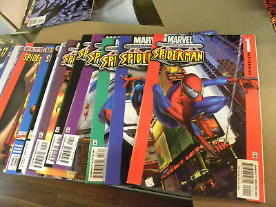 Marvel 2000 20 early issues ULTIMATE SPIDER-MAN #1 to #20 + Bendis Bagley qq