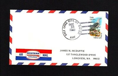 RARE 1983 Western First Flight St. Louis – 17 EXIST!!    **WORLD FREE SHIPPING**