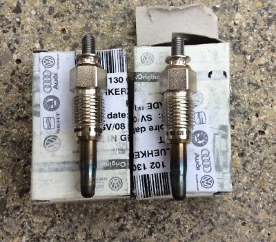 VW GOLF Mk1, Mk2, Mk3 Glow Plugs Pair 1.5D 1.6D 1.9D N01908101 Genuine VW