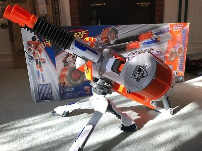 Nerf N-strike Elite Rhino-fire tripod machine gun + two 25 round drum  magazines
