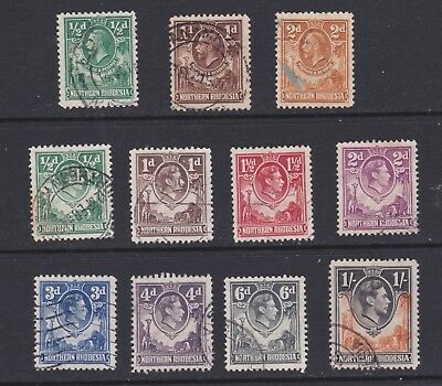 Northern Rhodesia stamps George V & VI used selection