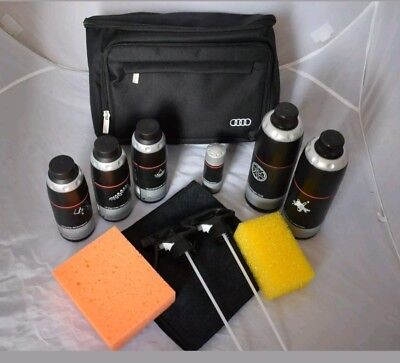 Brand New Genuine Audi Car Valeting Cleaning Kit With Storage Bag