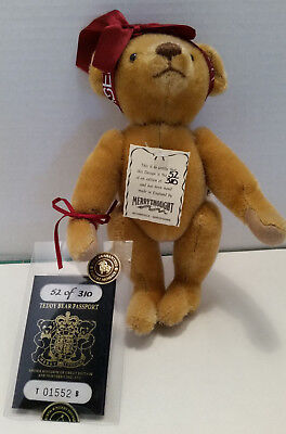 "Beautiful 8 1/2"" Merrythought Mohair Bear W/tags ""isabel"" 1993 Ufdc Convention"