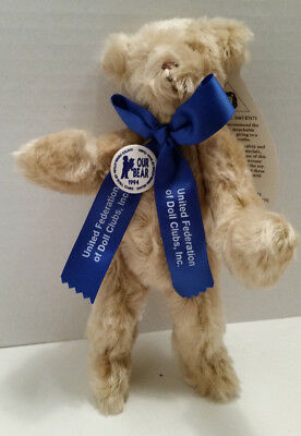 "Beautiful 8"" Merrythought Mohair Bear W/tags Made 1994 Exclusively For Ufdc-Mib"