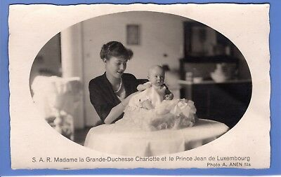 Old Vintage Rp Postcard Grand-Duchesse Charlotte & Prince Jean Of Luxembourg