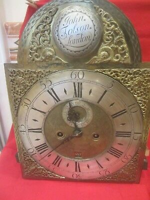 John Lolson ? Clock Face And Works London  12 X 16 3/4