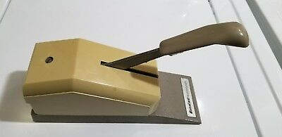 Vintage Addressograph  manual pump  credit card imprinter L@@K
