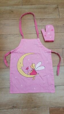 Girls Cooking Apron And Glove, Pink, Excellent Condition, L@@k