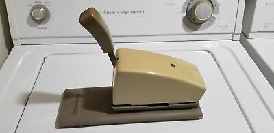 Vintage Farrington  manual pump  credit card imprinter L@@K