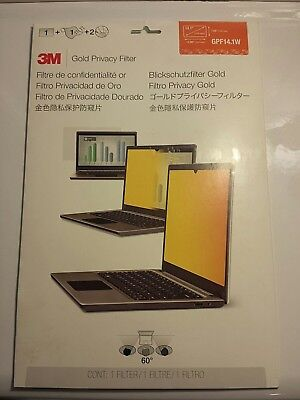 3M Gold Privacy Filter 14.1 GPF14.1W New in Package
