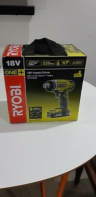 Brand New Ryobi RID 18-L15S 18v Impact Driver with 1.5 Ah Battery and Charger