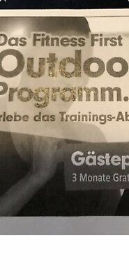 Fitness First Gutschein 3 Monate
