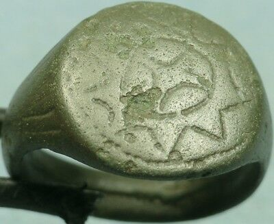 Byzantine Bronze Shield Ring, Cross