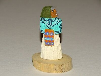 Native American Indian Navajo Folk Art Woman  Marvin Jim Primitive