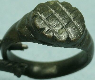 Ancient Bronze Incised Ring