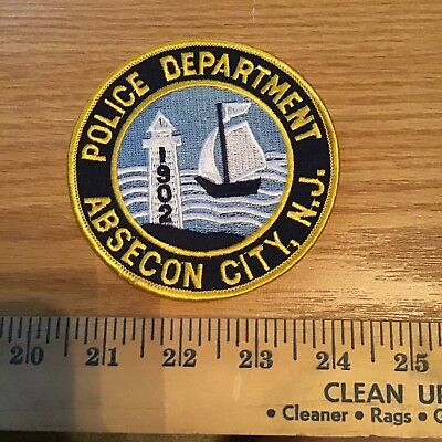 Old Absecon Nj New Jersey Police Patch