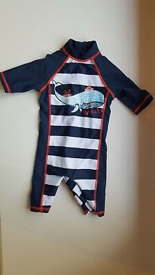 MOTHERCARE baby boy 3-6 months NAVY BLUE UV sun safe swimming costume