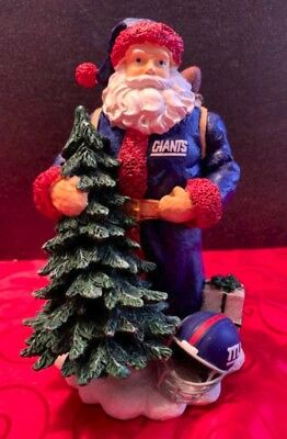 "5cea05121c6 New York Giants Santa 8"" Figurine - The Memory Company Limited Edition NFL"