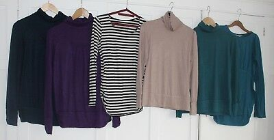 Bundle of winter maternity tops/polo-necks size 10 - Crave, JoJo, M&S - VGC