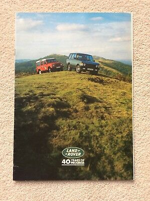1988 Land Rover 40th Anniversary Brochure