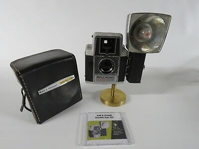 Vintage Bell & Howell Electric Eye 127 Camera with Flash, Case & Manual