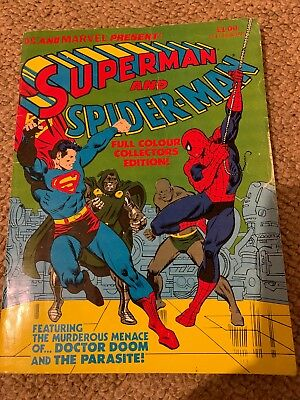 Dc and Marvel Present Superman And Spider-Man 1981