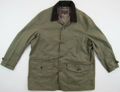 Barbour T321 Canvas Cotton Barn Jkt olive green jacket mens Extra Large XL