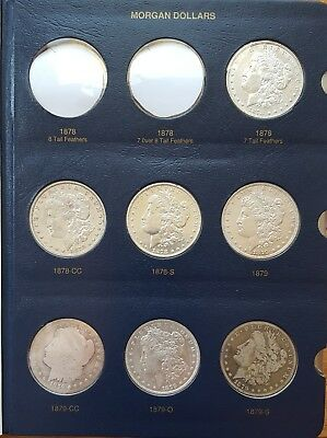 COMPLETE Morgan Silver Dollar Set - Coins 1878 to 1921 - All Dates & Mint Marks!