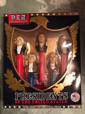 Pez Educational Series Presidents Of The United States Volume 1 1789-1825 new