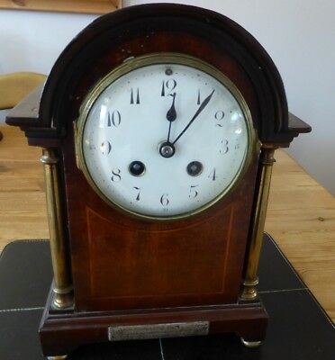 Antique Japy Freres et Cie mantle clock, in working order.