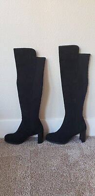 336a6f0df6c Stuart Weitzman Women s Black Stretch Suede Lowjack Over the Knee Boots ...