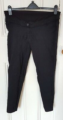 Next Black Maternity Over the Bump Jeans Size 14R Trousers Jeggings
