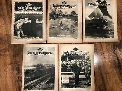 Reading Railroad Magazine - Lot of 5 from 1928