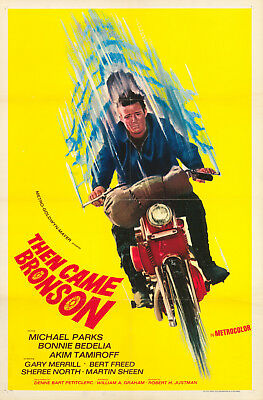 THEN CAME BRONSON - ORIG 1 SHEET MOVIE POSTER Michael Parks Harley Movie
